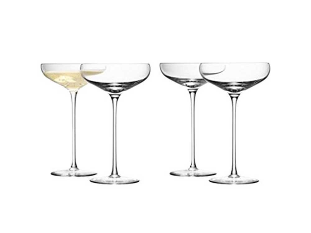 LSA International Wine Champagne Saucer 10.1 fl oz Clear x 4