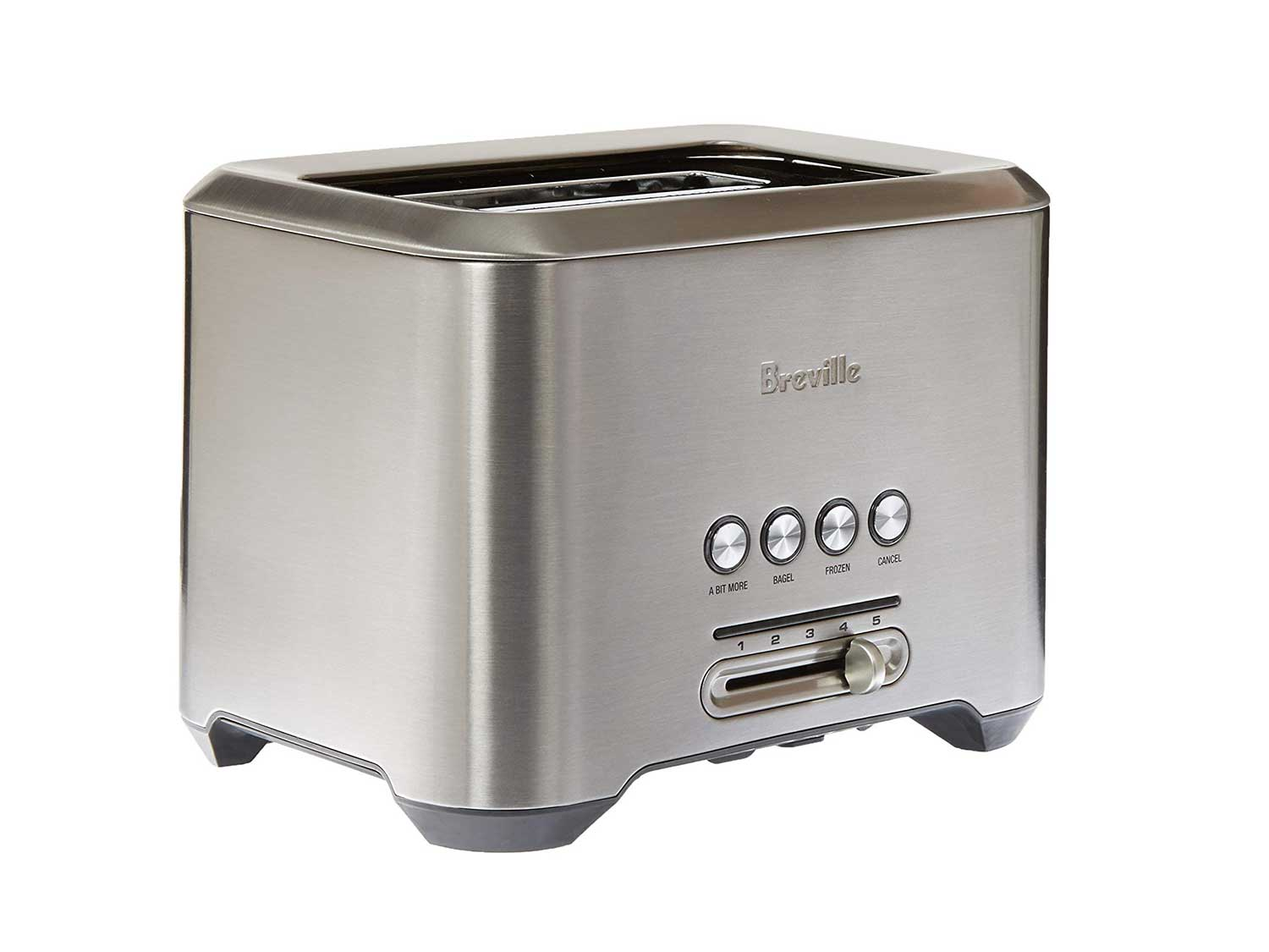 Breville The Bit More 4-Slice Toaster, 16.1 x 8.1 x 7.6 inches, Stainless Steel