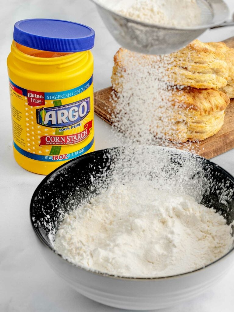 Adding cornstarch to dry batter mix is the key to extra crunchy fried chicken.