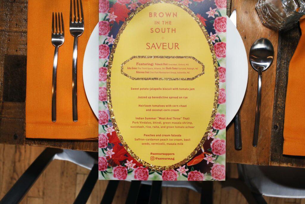 Brown in the South menu