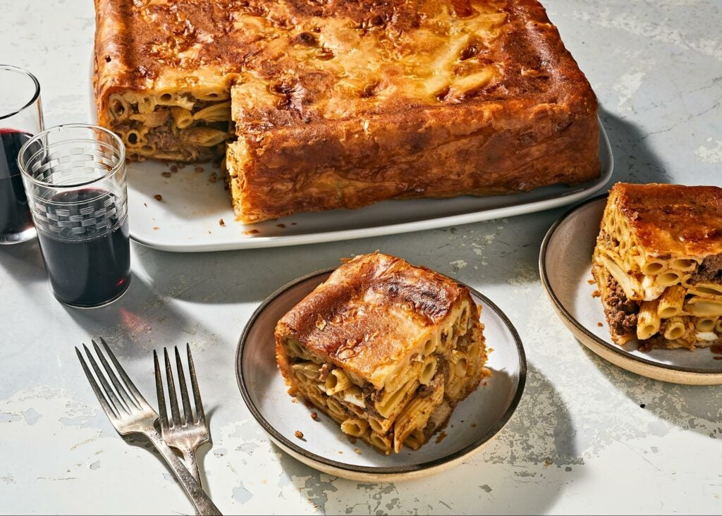 Baked Macaroni in Pastry