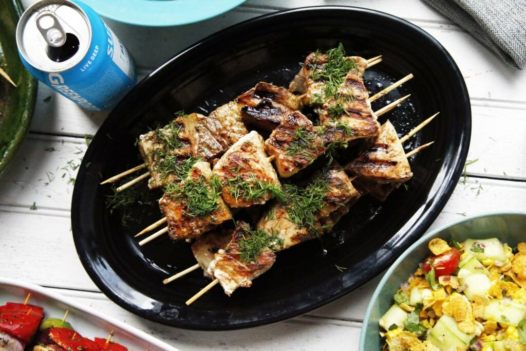 Grilled Swordfish Kebabs (Machli Kebabs)