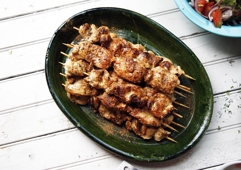 Grilled Chicken Tikka Kebabs