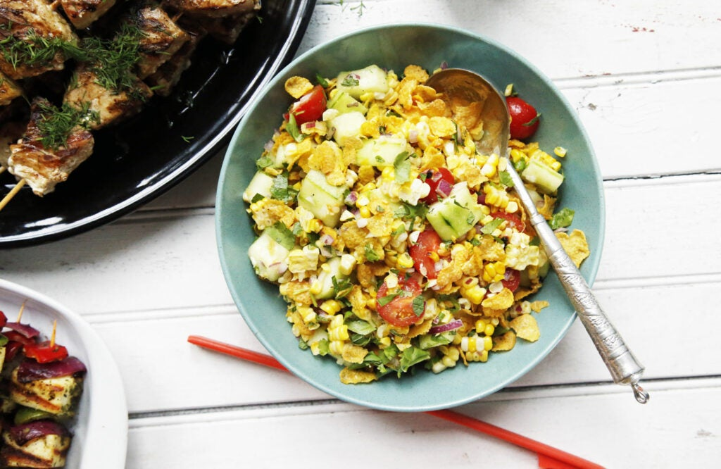 Grilled Corn Bhel