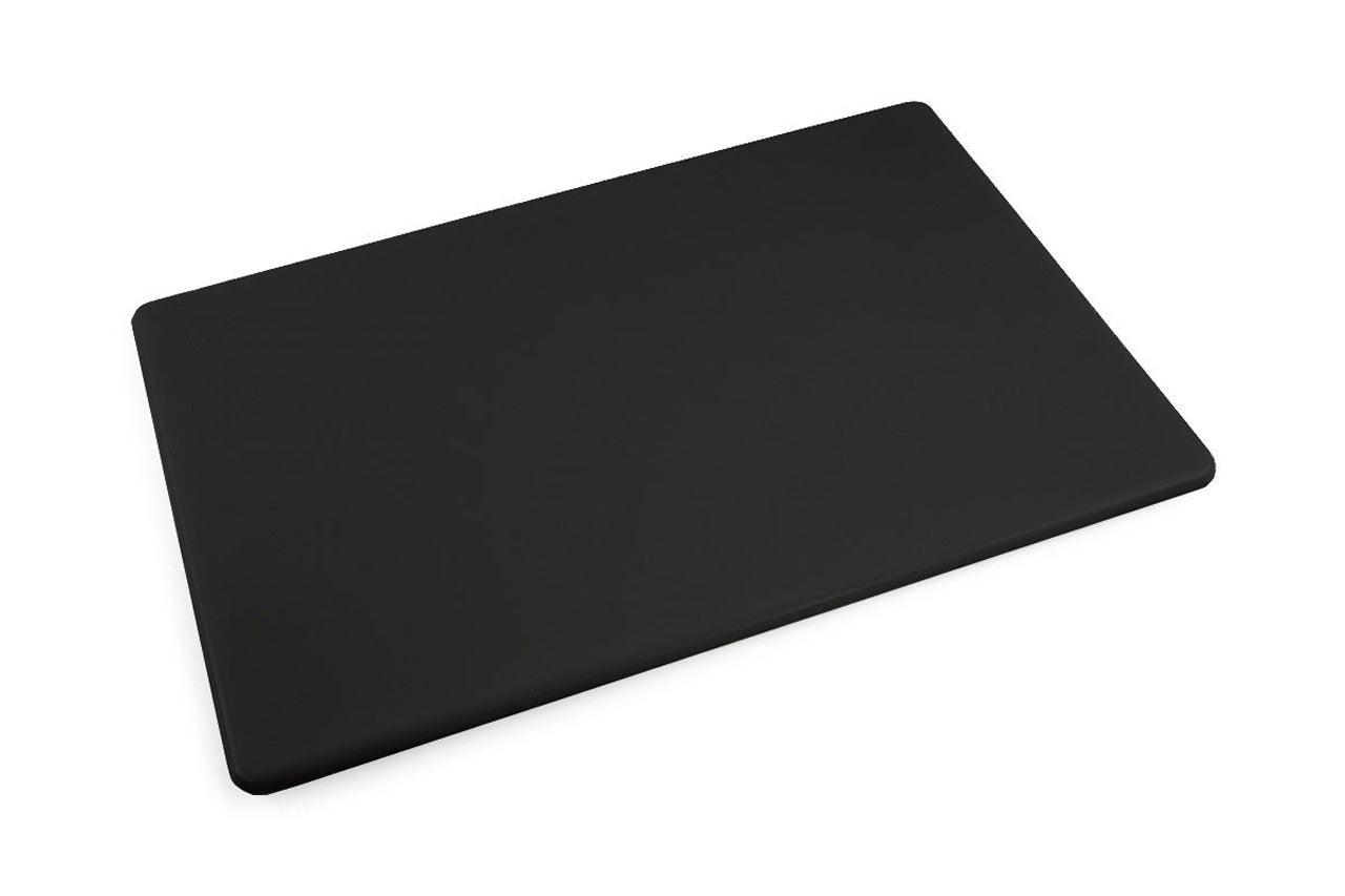 Commercial Plastic Black Cutting Board, NSF, 18 x 12 x 0.5 Inch