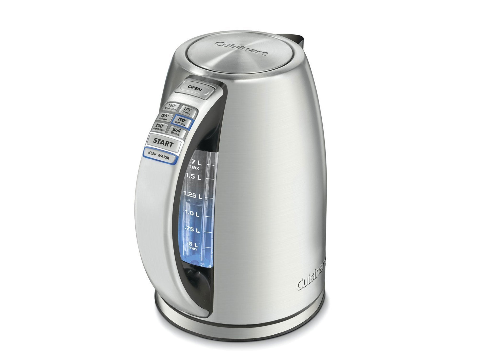 Cuisinart PerfecTemp 1.7-Liter Stainless Steel Cordless Electric kettle, 1.7 L, Silver
