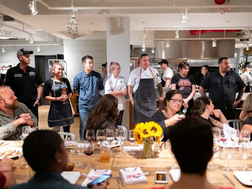 The chefs competing in this year's Lamb Jam final.