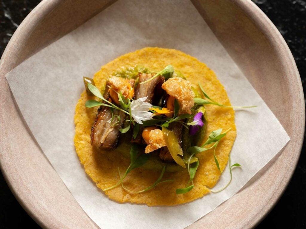 Chef Park's lamb belly taco