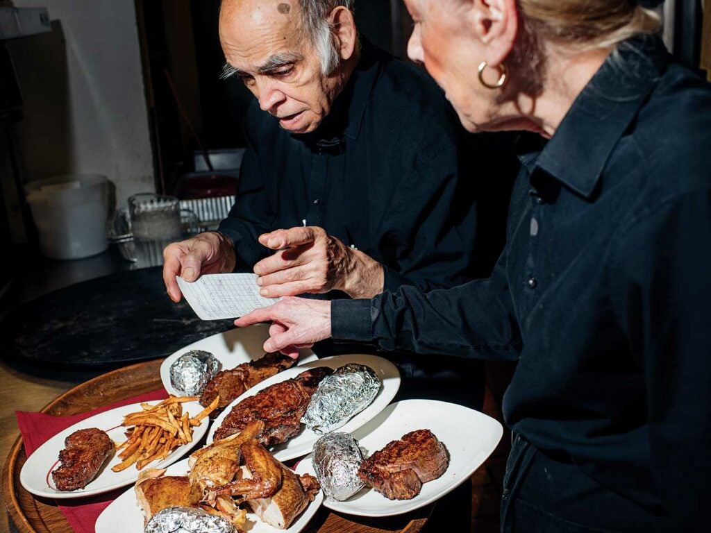 Steve Elias prepares food to be served at Jamil's.