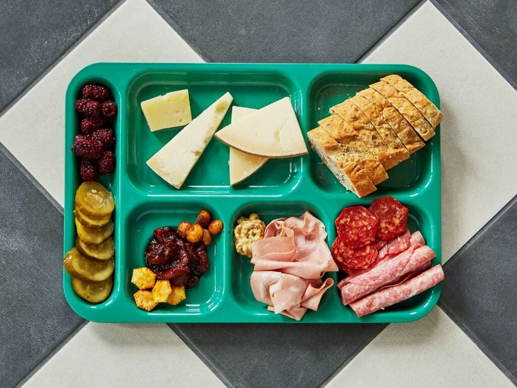 A snack tray at Homemakers.