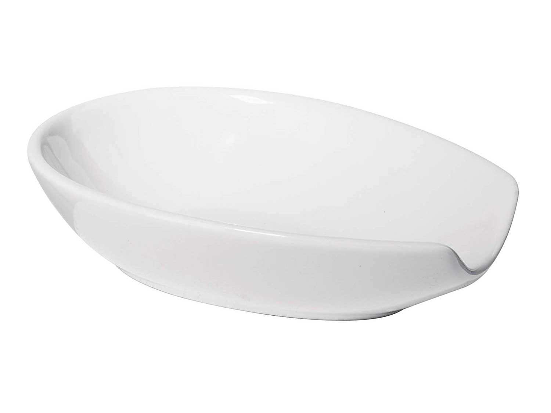 Oggi Ceramic Spoon Rest, White