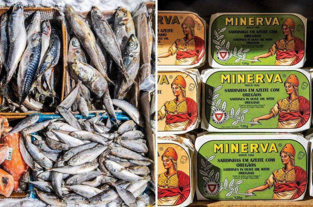 Salt cod and conservas at Portugalia Marketplace.