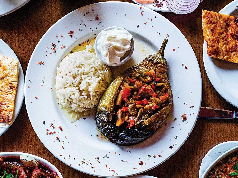 Turkish Stuffed Eggplants