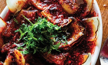 Grilled Onion Salad with Sumac and Herbs
