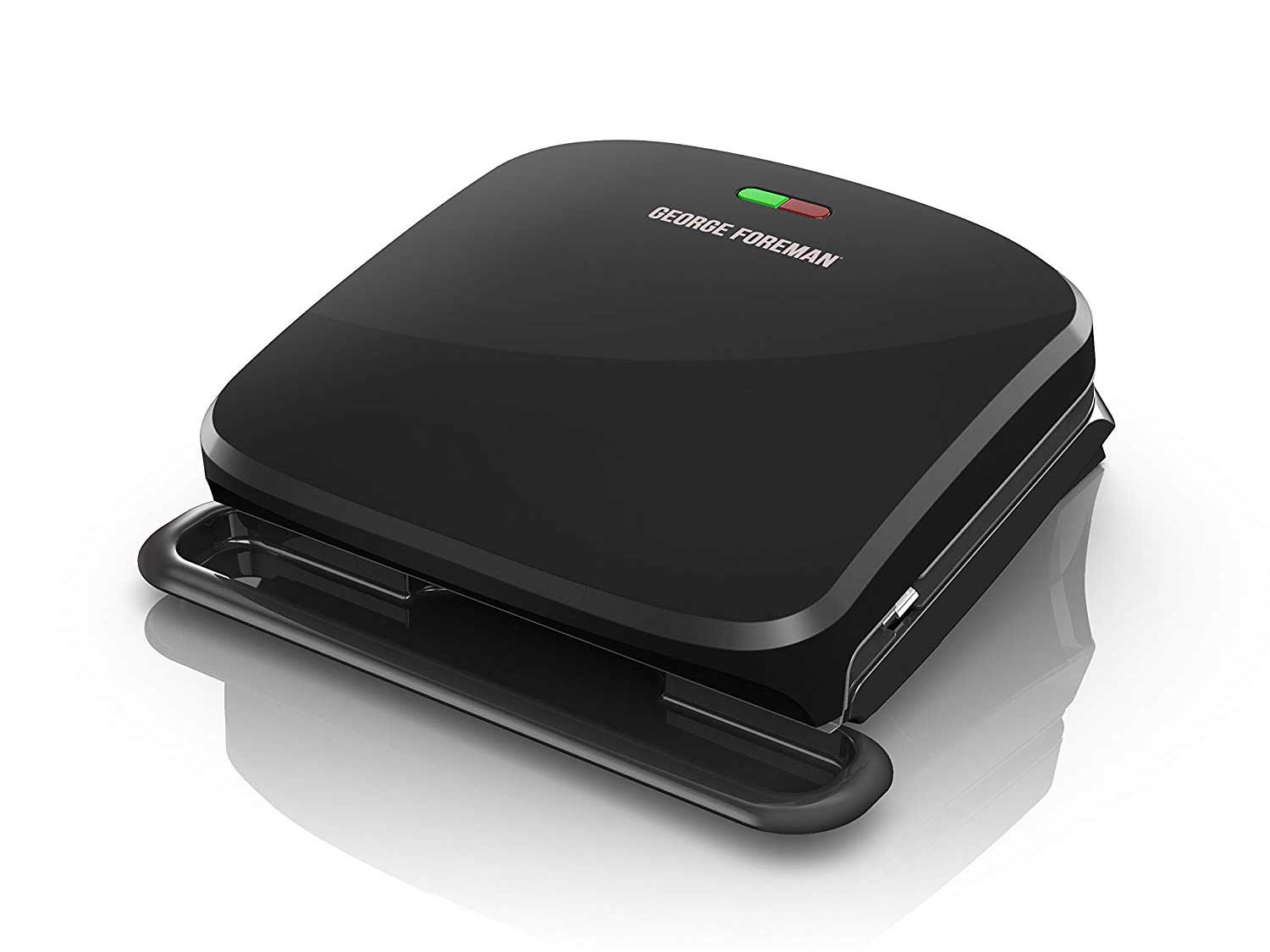 George Foreman 4-Serving Removable Plate Grill and Panini Press, Black
