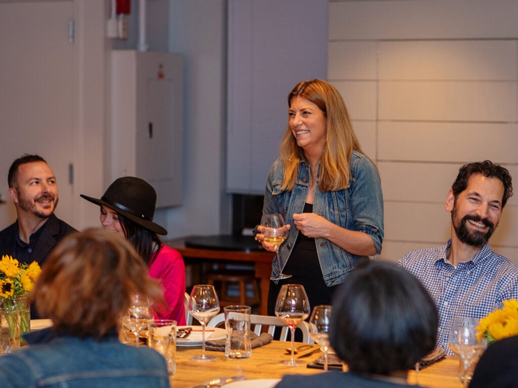 SAVEUR editor-in-chief Sarah Gray Miller welcomes guests and introduces chef Chris Shepherd.