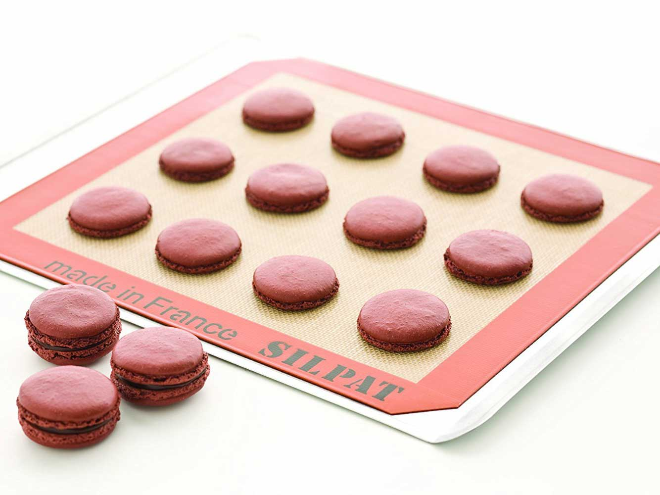 "Silpat Premium Non-Stick Silicone Baking Mat with Storage Band, Half Sheet Size, 11-5/8"" x 16-1/2"""