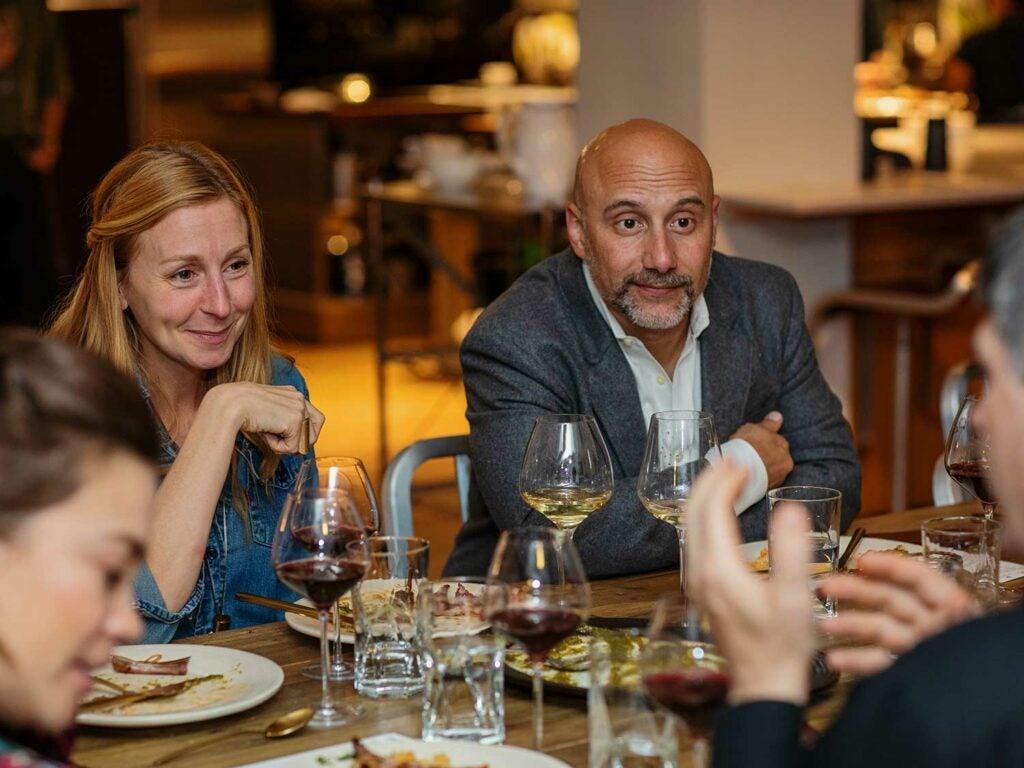 Superstar chef Christina Tosi of Milk Bar and bartaco president Sabato Sagaria with clean plates.