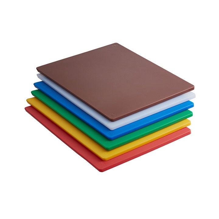Six HCAAP Colored Plastic Cutting Boards