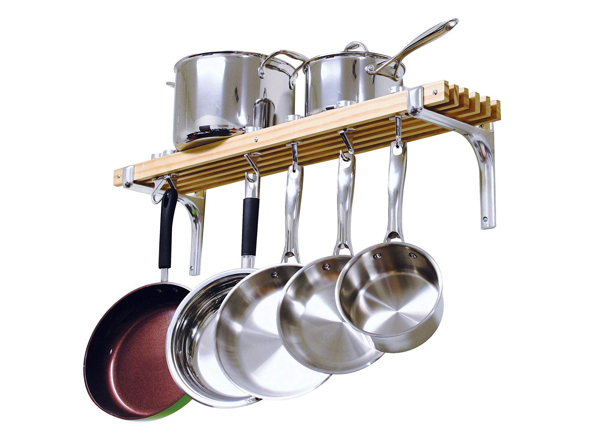 Wall-mounted pot organizer
