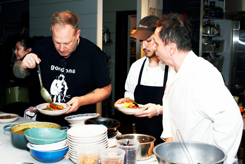 Andy Ricker joined Thompson in the kitchen