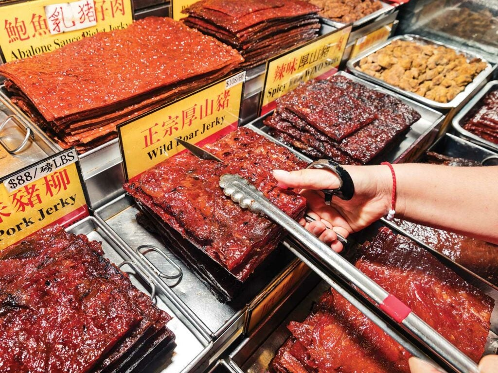 Jerky for sale by the kilogram.
