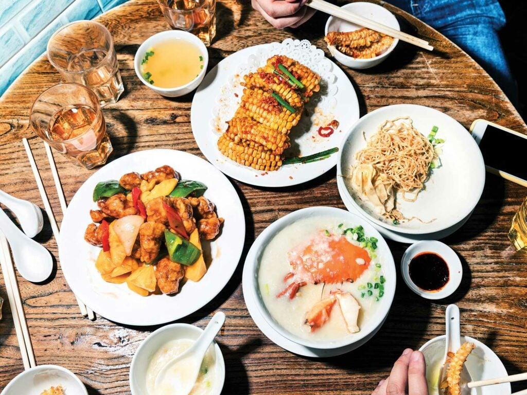 A meal at Fei Chai Man.