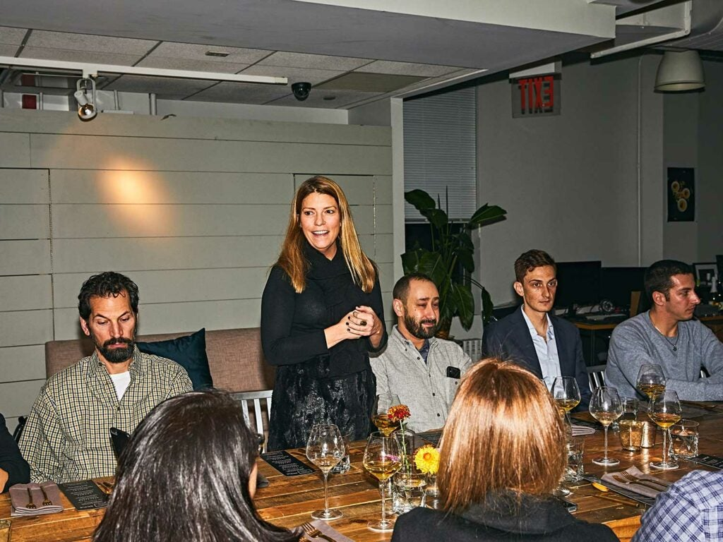 SAVEUR editor-in-chief Sarah Gray Miller addresses guests at the SAVEUR Supper.