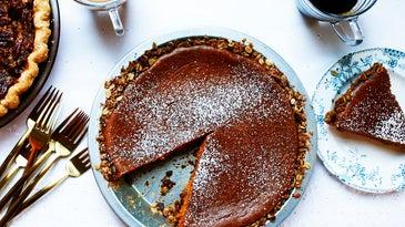 Easy Pumpkin Pie with Press-In Oat Crust