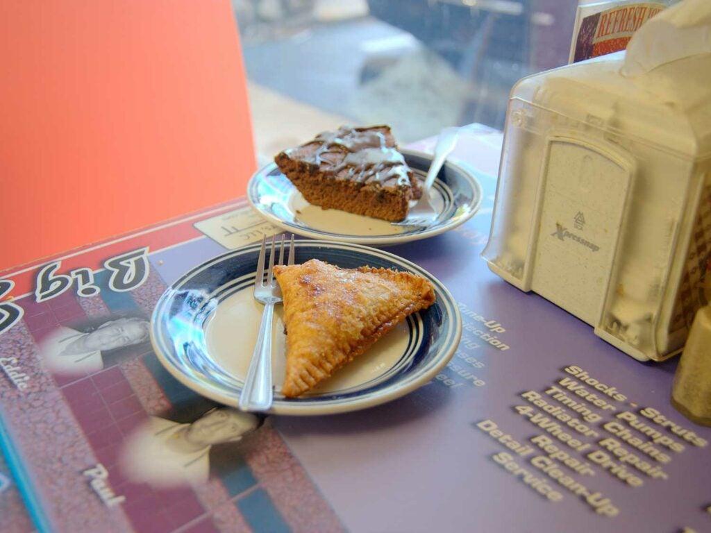 Fried caramel-apple pie at Tacker's Shake Shack.