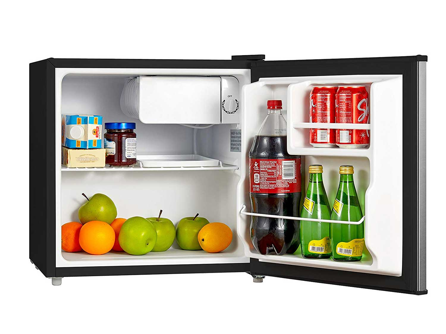 Midea, 1.6 Cu. Ft. Compact Refrigerator, Stainless Steel