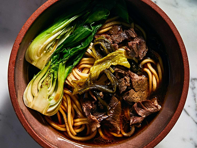 Taiwanese Beef Noodle Soup (Hong Shao Niu Rou Mian