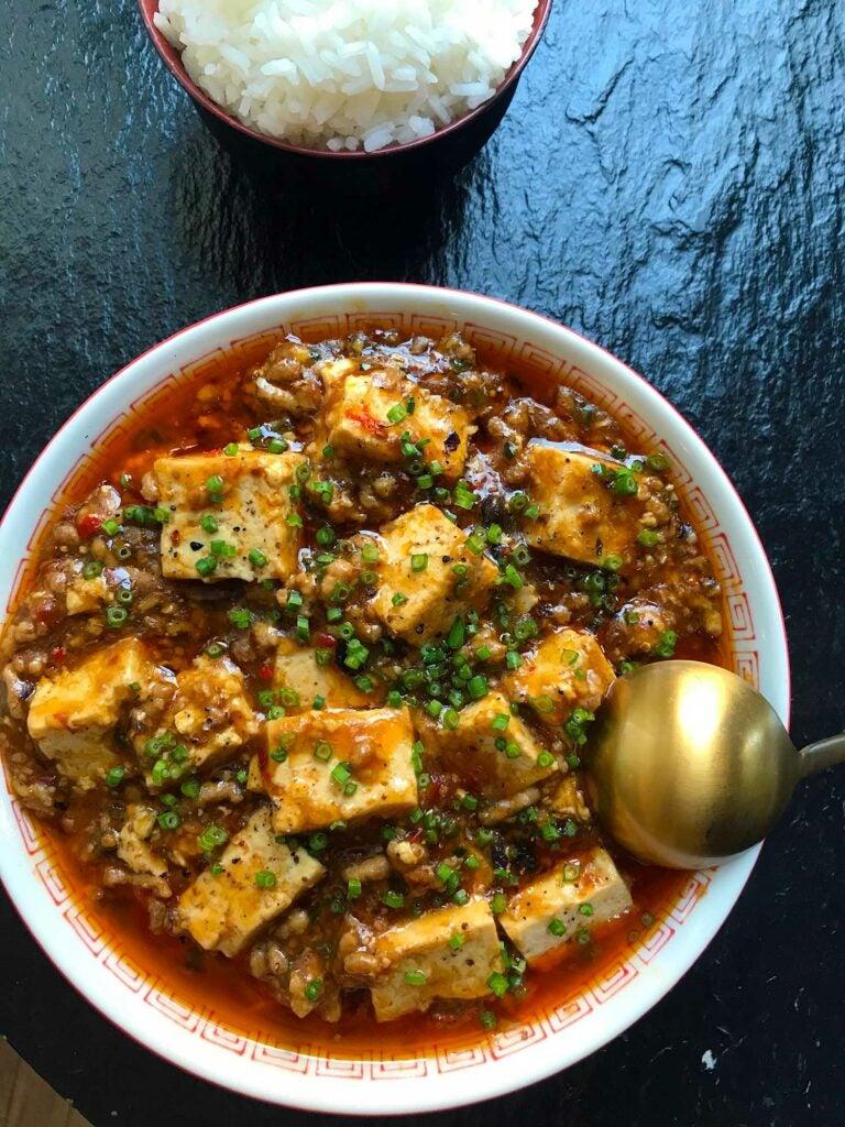 Spicy bowl of Mapo tofu