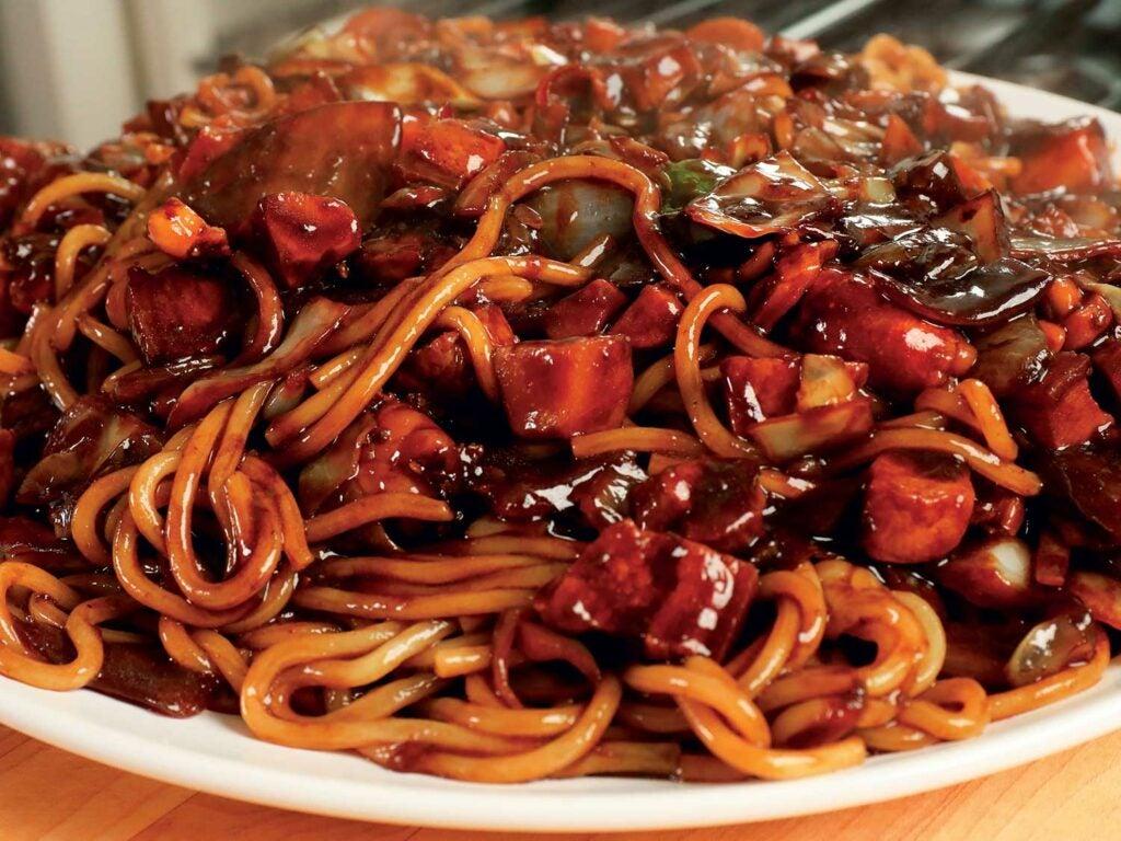 Leftover Korean Black-Bean Noodles