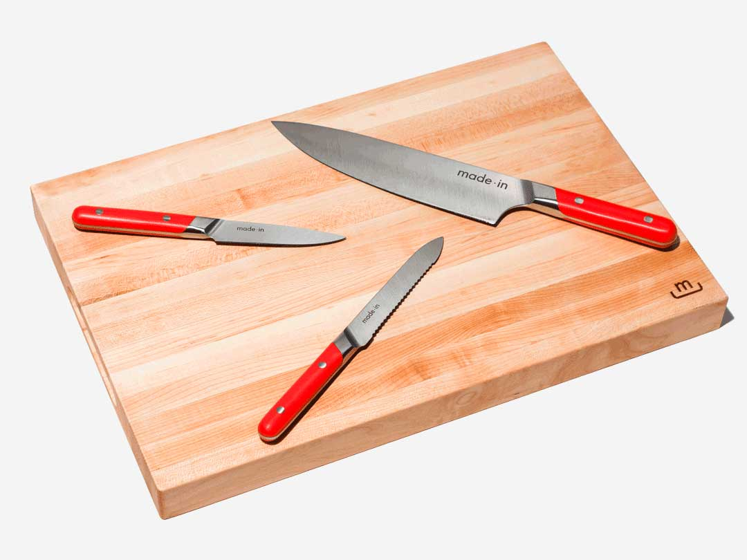Made In Knife Set with Board
