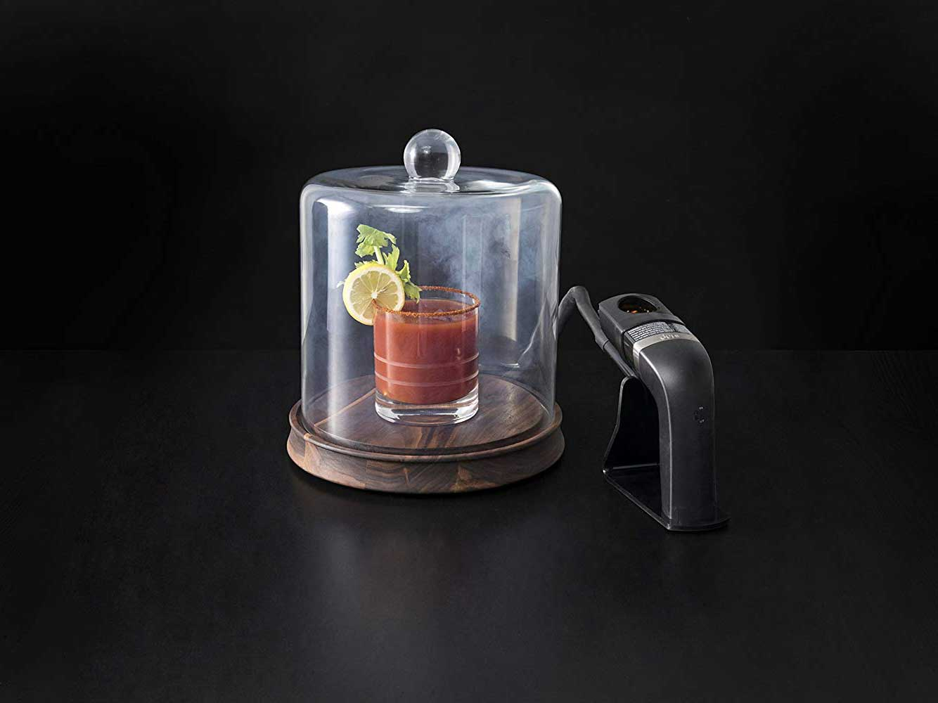 Crafthouse by Fortessa Glass Smoking Cloche with Smoke Infusing Gun