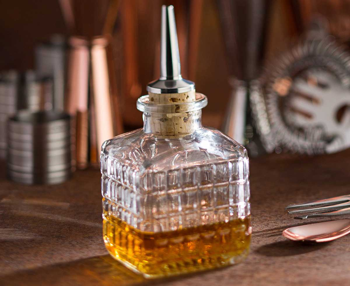 A Bitters Bottle Adds Order And Beauty To a Home Bar