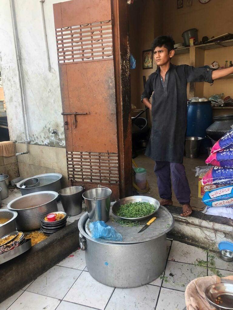 Maharaj's kitchen helper Daya Ram.
