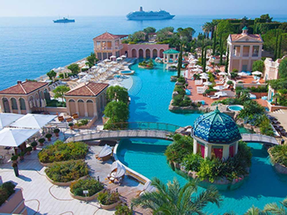 Monte-Carlo Bay Hotel & Resort in Monte Carlo, Monaco.