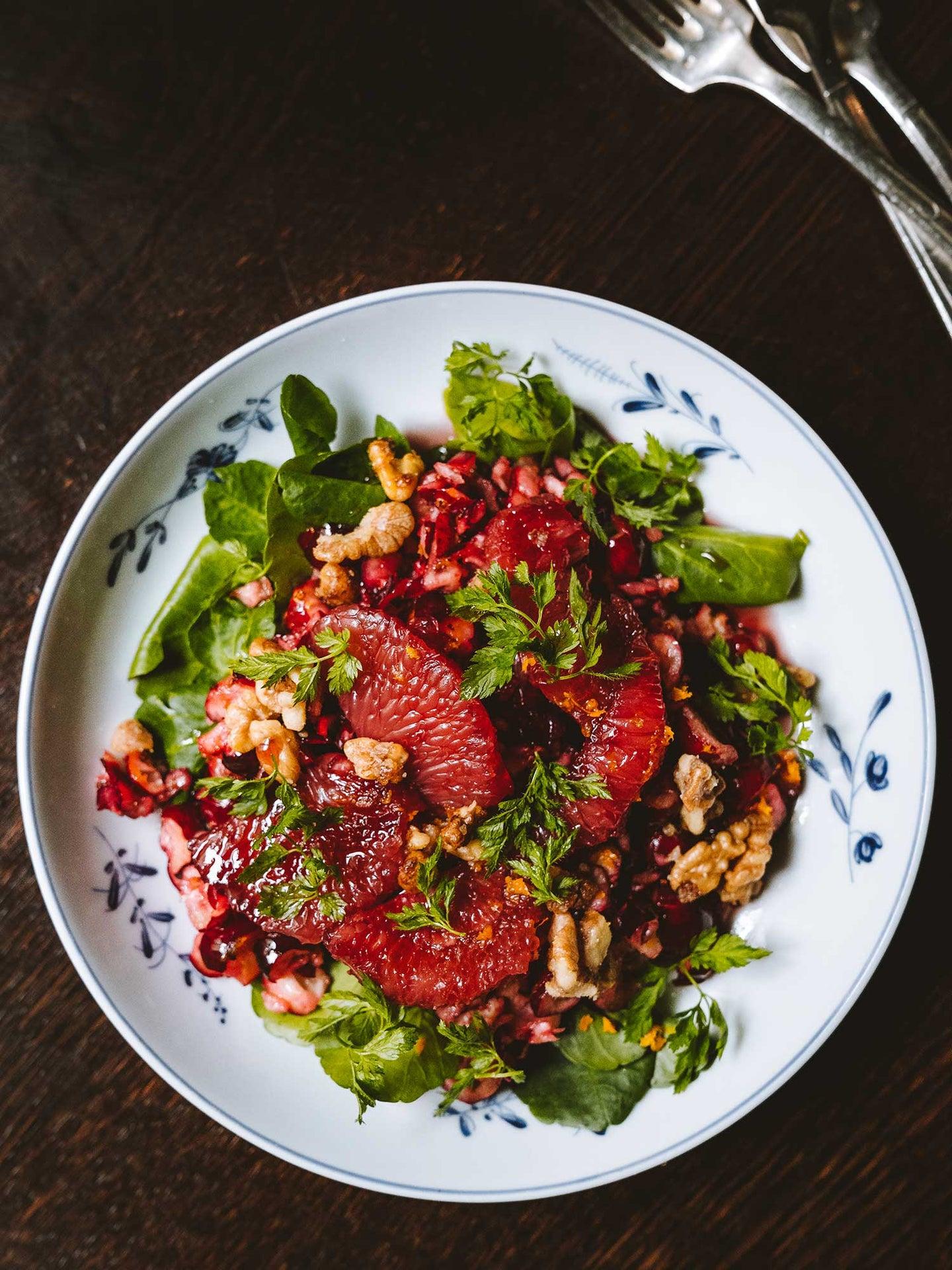 Cranberry and Grapefuit Salad