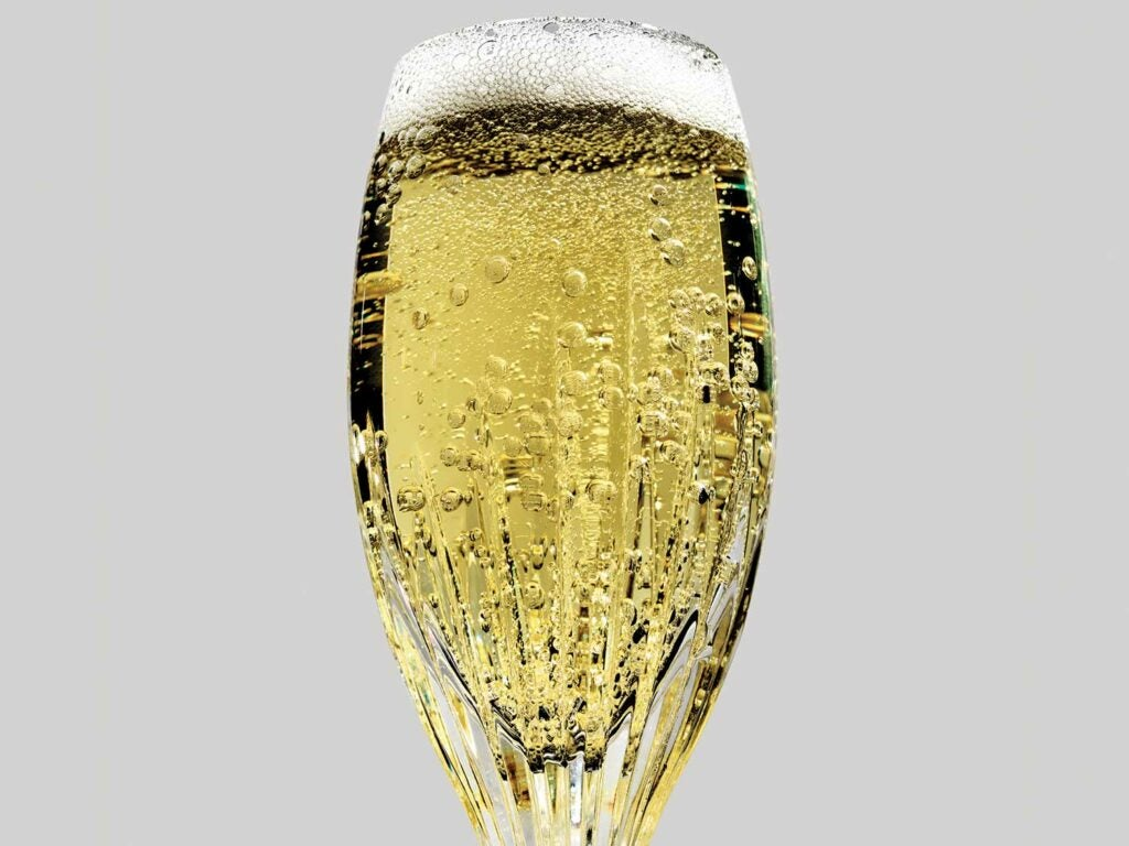 Cava, sparkling  Spanish wine, made exactly like French Champagne.