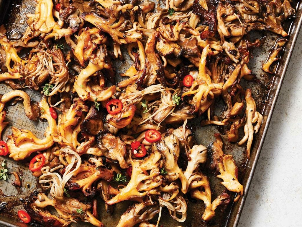 Roasted Mushrooms with Chile-Lemon Oil