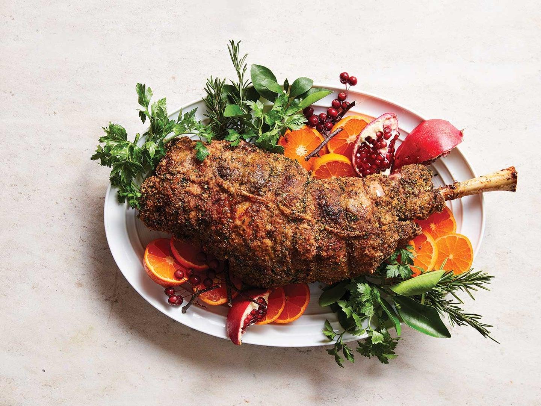 Leg of Lamb with Herb–Garlic Crust