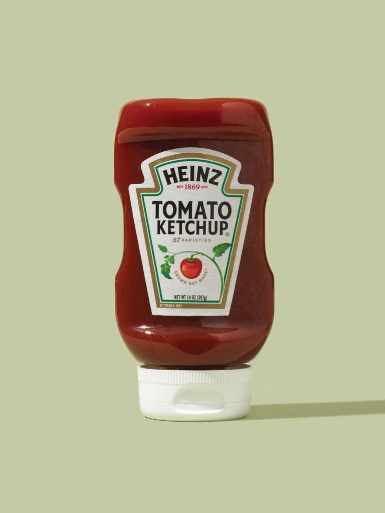 Heinz ketchup bottle.