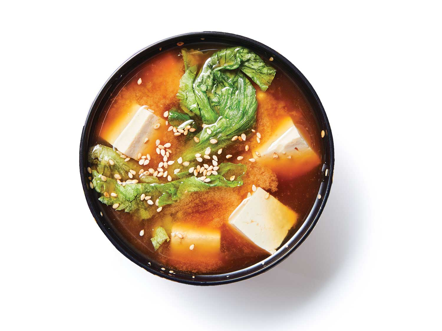 Tofu and Lettuce Miso Soup