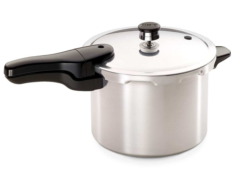 Presto 6-Quart Stainless Steel Pressure Cooker, Deluxe