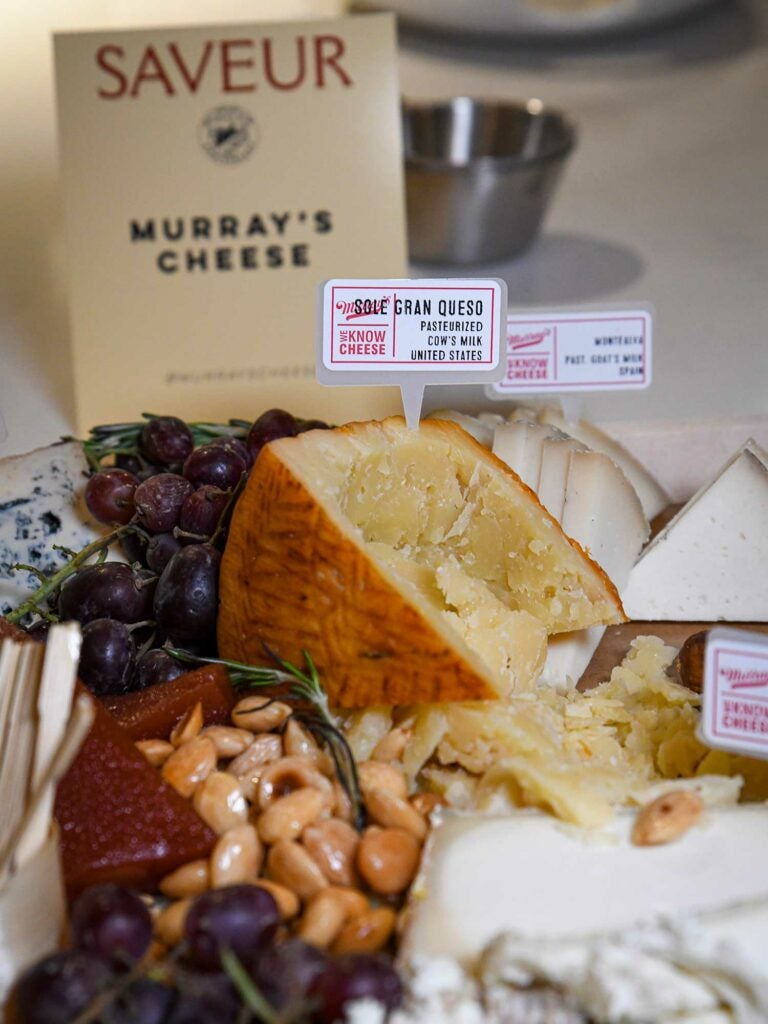 Murray's Cheese supplied beautiful cheese boards for the event.