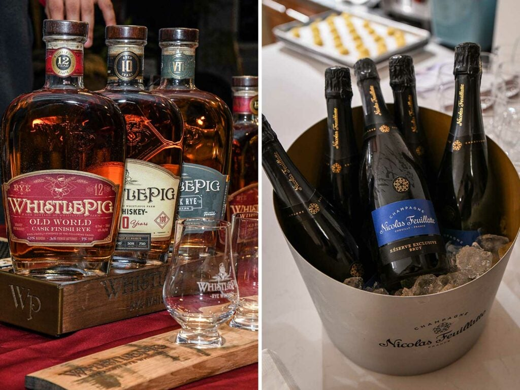 WhistlePig Whiskey supplied guests with rye whiskey, as well as a signature Preakness cocktail. Champagne Nicolas Feuillatte provided the bubbles.