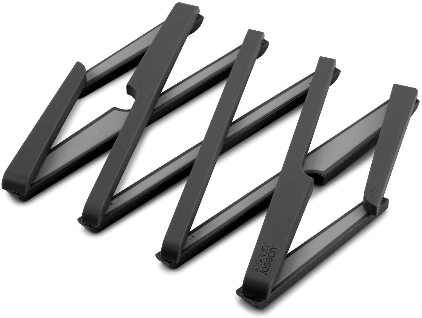 Joseph Joseph Stretch Expandable Silicone Trivet, Black