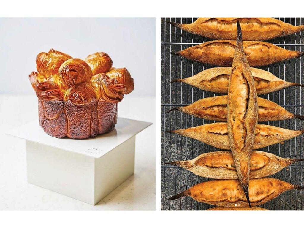 brioche feuilletée and demi-baguettes